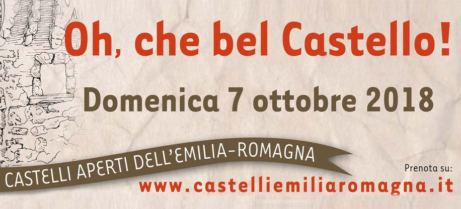 "October 7th 2018: Rocca delle Caminate open to public, as part of the event ""Oh che bel castello"""